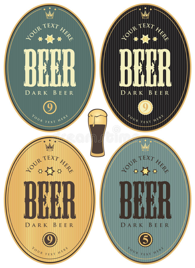 Aufkleber für Bier vektor abbildung
