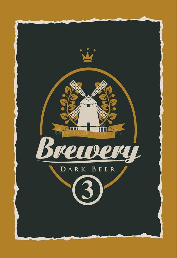 Aufkleber für Bier lizenzfreie abbildung