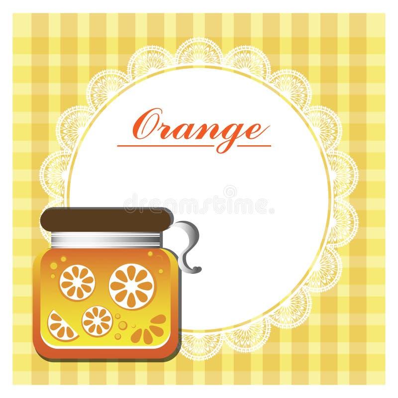 Aufkleber für Orangenmarmelade stockfoto