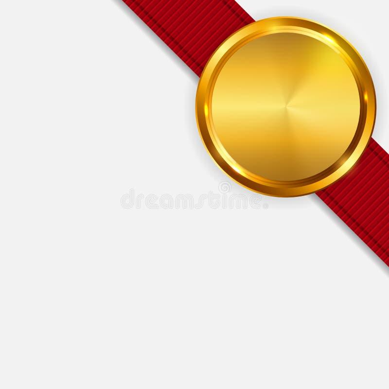 Aufkleber mit Band-Schablone auf heller Hintergrund-Vektor-Illustration lizenzfreie abbildung