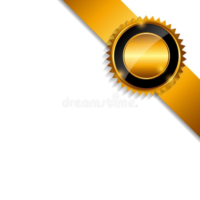 Aufkleber mit dem Band lokalisiert auf weißem Hintergrund lizenzfreie abbildung
