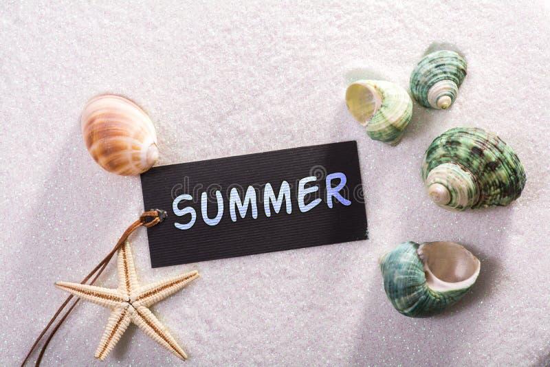 Aufkleber mit Sommer stockbilder