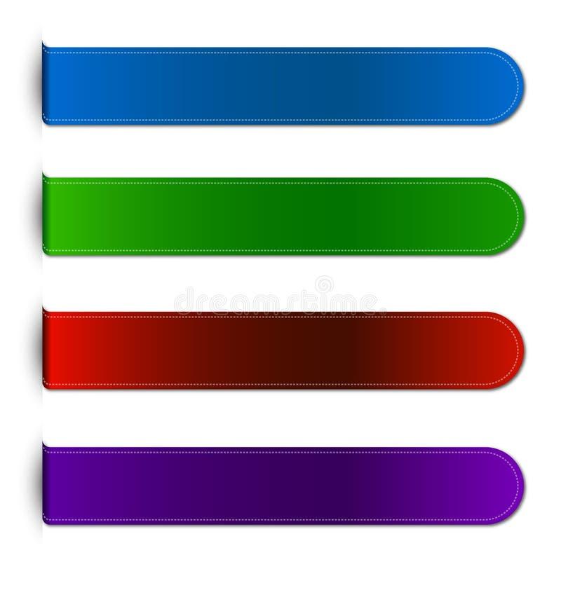 Aufkleber oder Band lizenzfreie abbildung