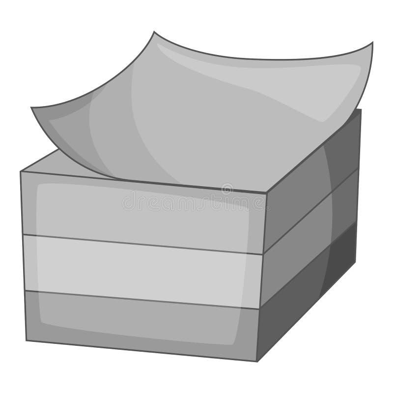 Aufkleberikonenmonochrom stock abbildung