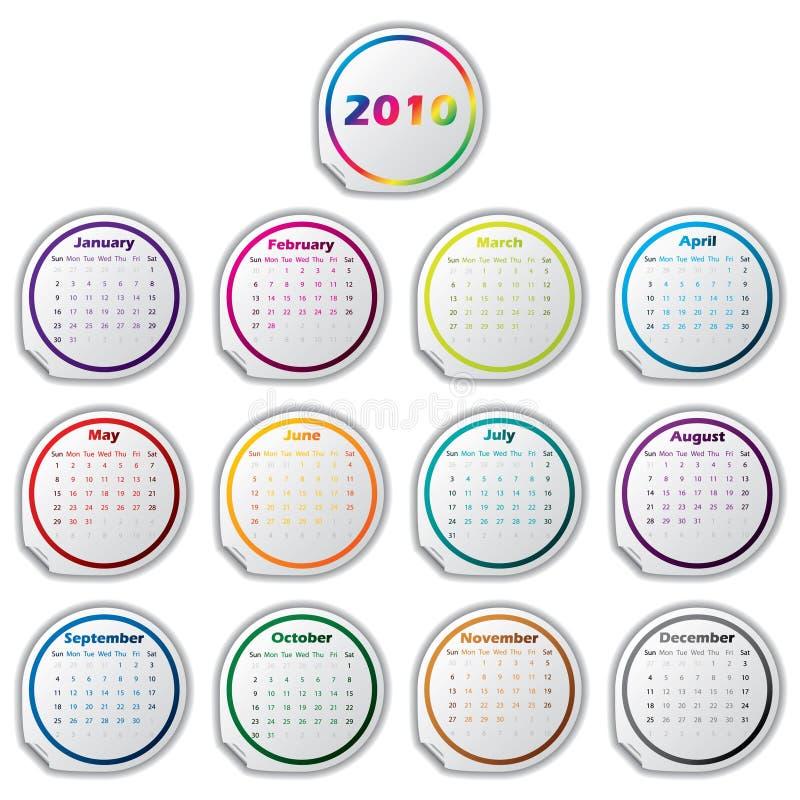 Aufkleberkalender für 2011 stock abbildung