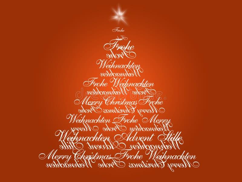 Aufkommen-Weihnachtsbaum lizenzfreie abbildung