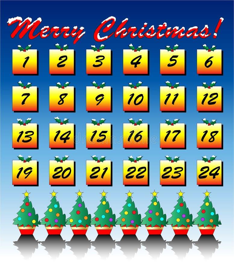Aufkommenkalender stock abbildung