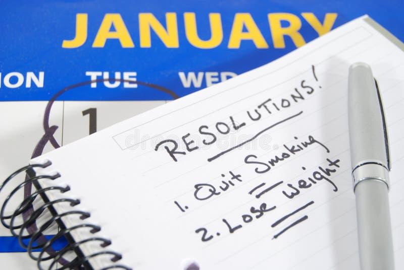 Auflösungen des neuen Jahres lizenzfreie stockbilder