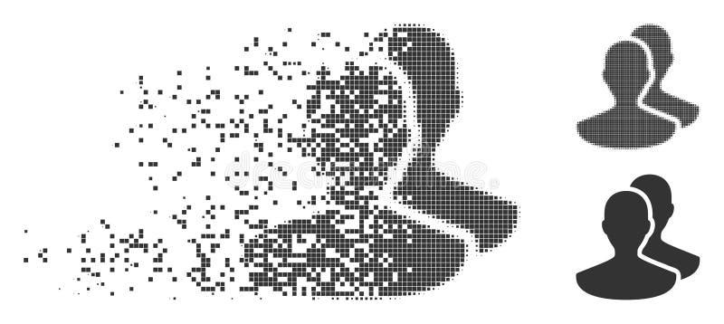 Auflösungspixel-Halbtonpersonen-Ikone vektor abbildung