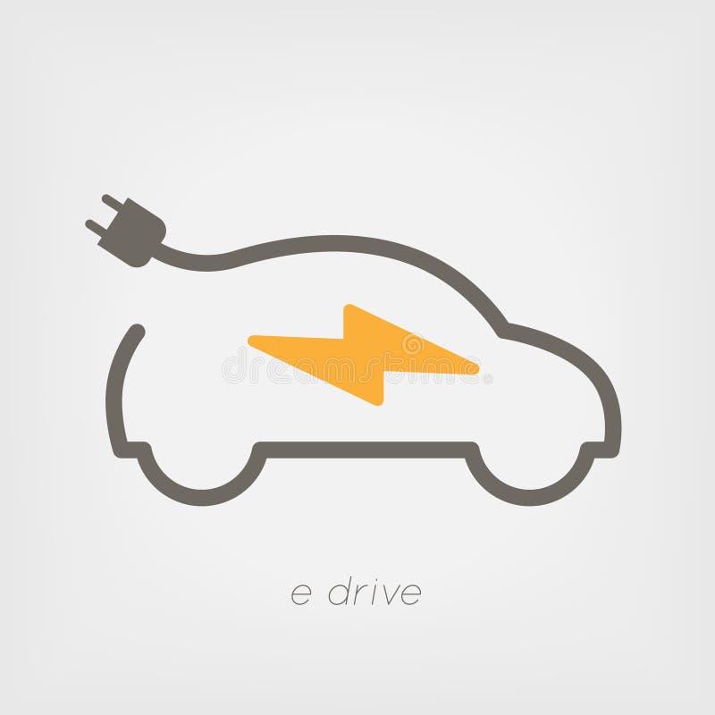 Aufladendes elektrisches Auto lizenzfreie abbildung