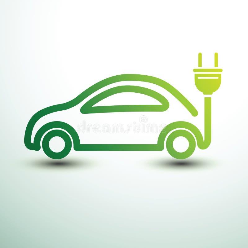 Aufladendes elektrisches Auto stock abbildung
