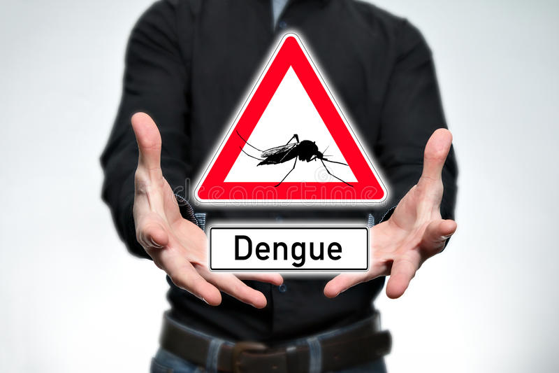 Aufmerksamkeit, Dengue-Fieber lizenzfreies stockfoto
