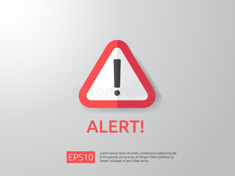 Aufmerksamkeit, die wachsames Zeichen mit Ausrufezeichensymbol warnt shiel lizenzfreie abbildung