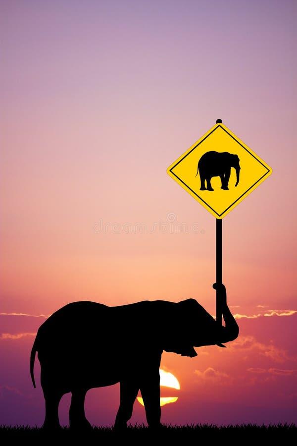 Aufmerksamkeit zu den Elefanten vektor abbildung