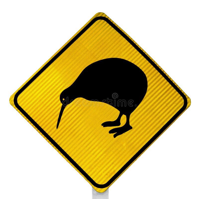 Aufmerksamkeits-Kiwi-Überfahrt-Verkehrsschild lizenzfreies stockfoto