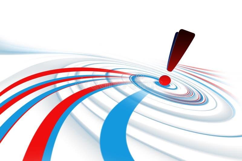 Aufmerksamkeits-Perspektive-blauer u. roter Hintergrund stock abbildung