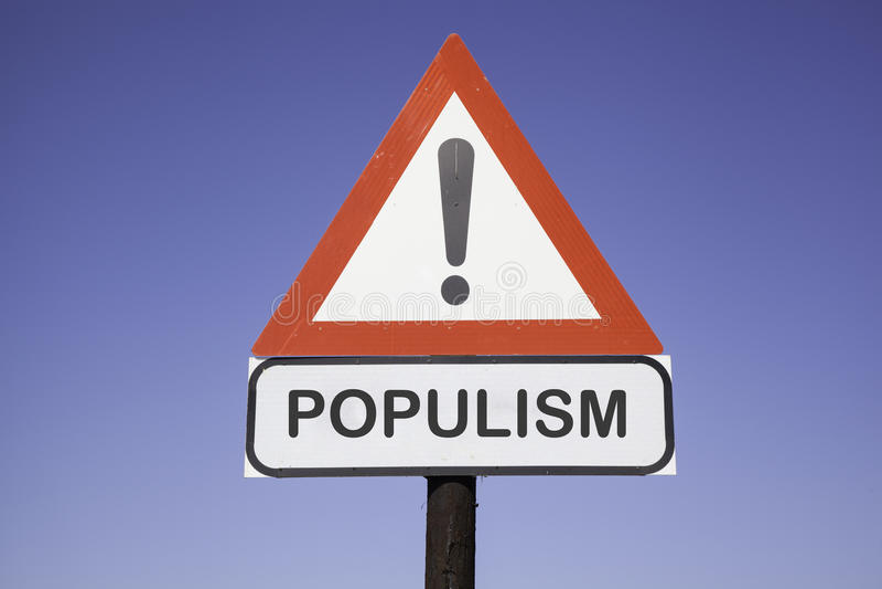 Aufmerksamkeits-Populismus stockbild