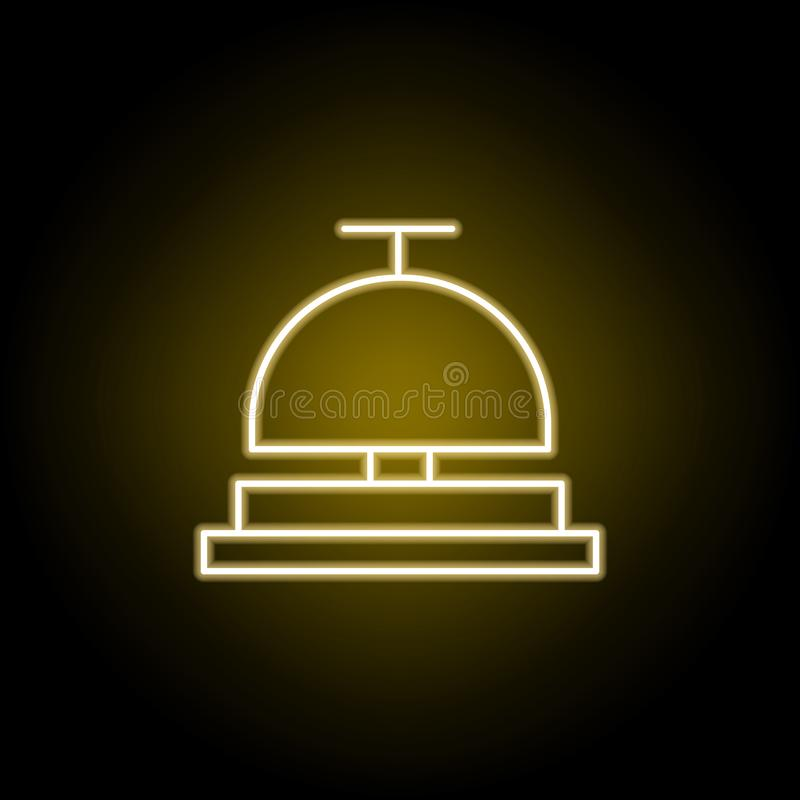Aufnahmeglockenikone in der Neonart Zeichen und Symbole k?nnen f?r Netz, Logo, mobiler App, UI, UX verwendet werden stock abbildung