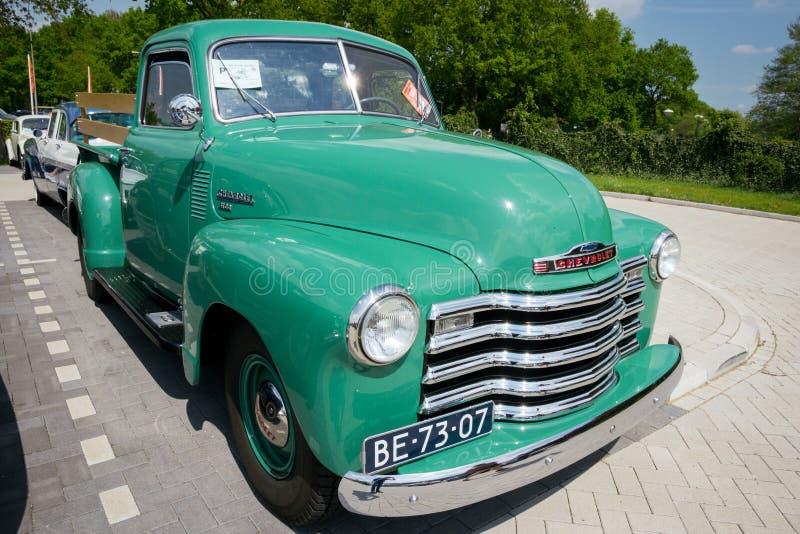 Aufnahmen-LKW 1950 Klassiker-Chevrolets 3100 lizenzfreie stockfotos