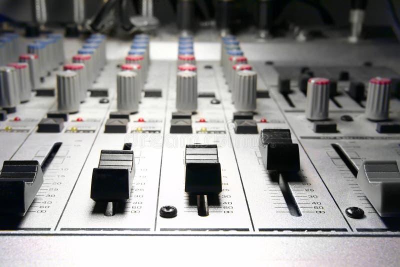 Aufnahmestudio/Mischer lizenzfreie stockbilder