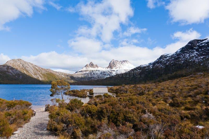 Aufnahmevorrichtungs-Berg in Tasmanien lizenzfreie stockbilder