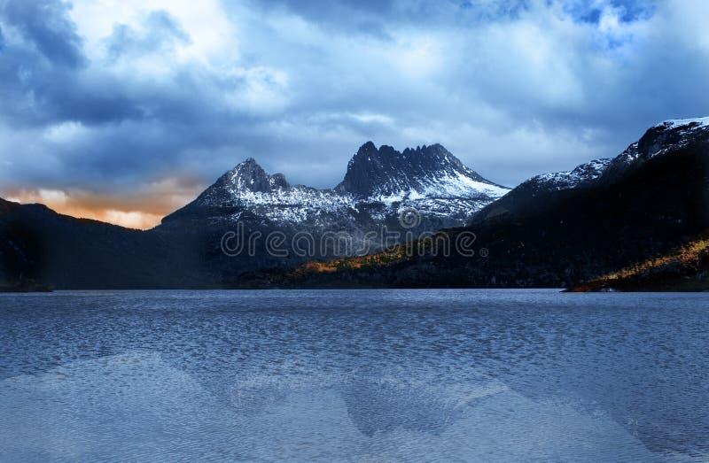 Aufnahmevorrichtungs-Berg Tasmanien stockfotos