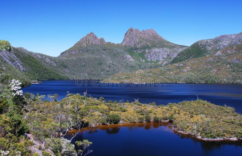Aufnahmevorrichtungs-Berg in Tasmanien, Australien stockfotos