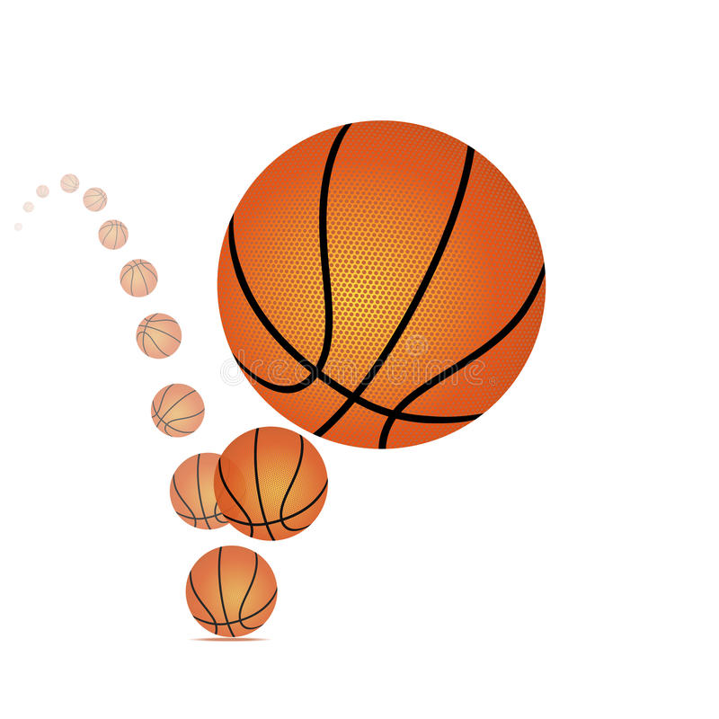 Aufprallen des Basketballs lizenzfreies stockfoto
