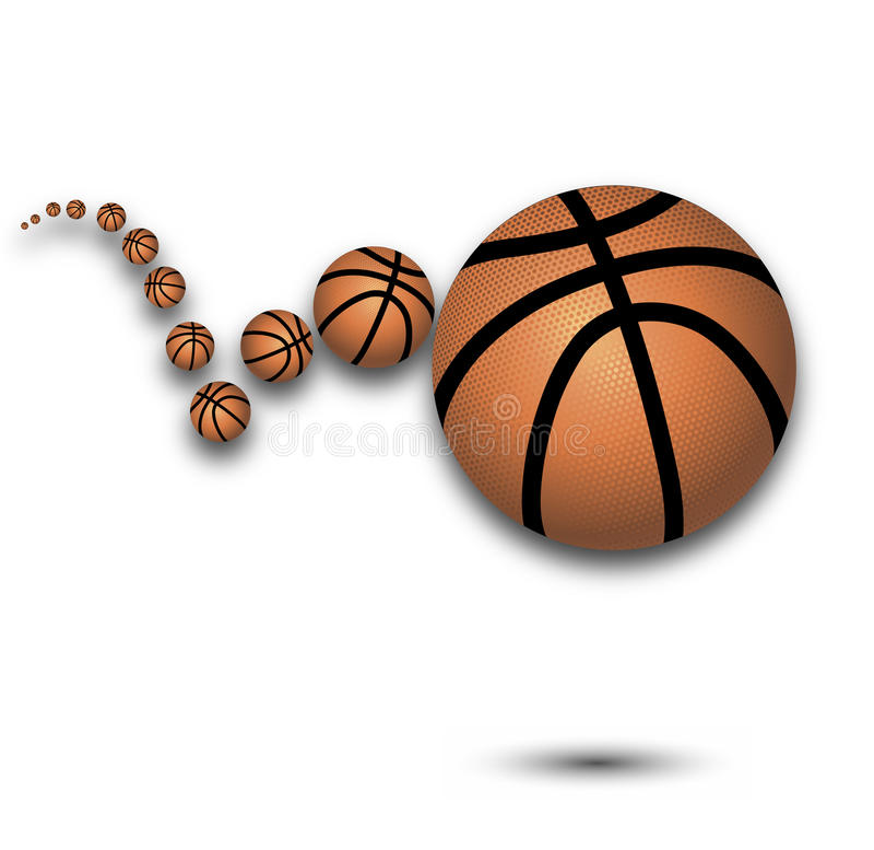 Aufprallender Basketball des Vektors lizenzfreie abbildung