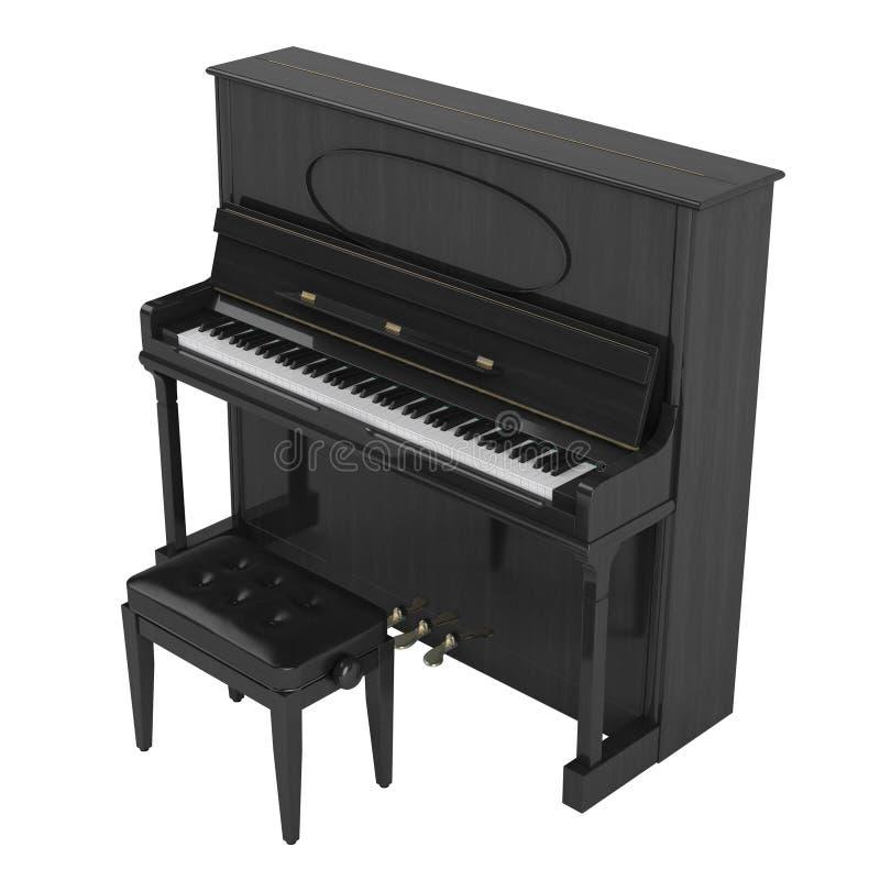 Aufrechtes Klavier lizenzfreie abbildung