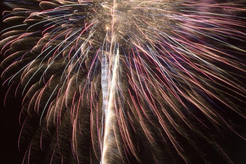 Aufregende Feuerwerke stockfoto