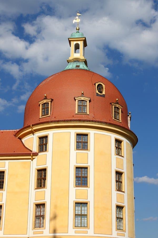 Aufsatz des Moritzburg Schlosses lizenzfreie stockfotos