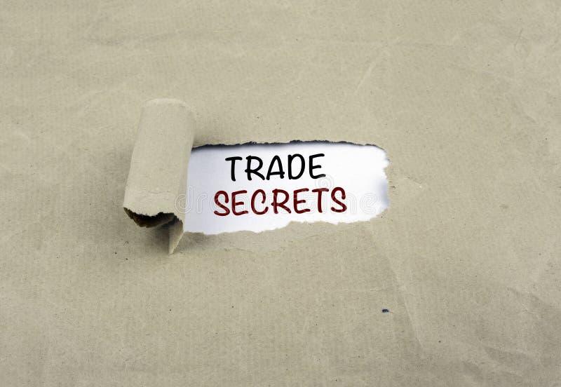Aufschrift aufgedeckt auf altem Papier - GESCHÄFTSgeheimnisse lizenzfreie stockfotos