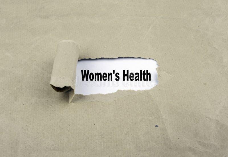 Aufschrift aufgedeckt auf altem Papier - Women& x27; s-Gesundheit stockfotos