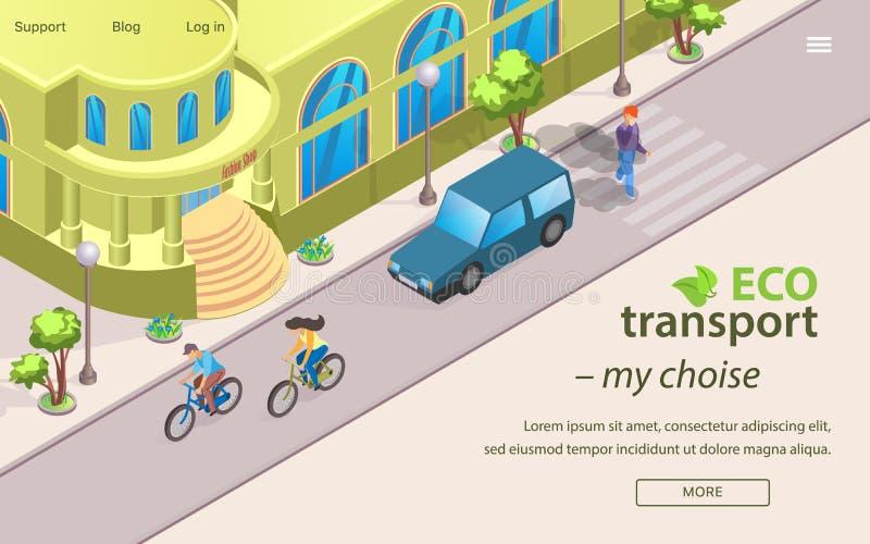 Aufschrift Eco-Transport meine Choise-Beschriftung lizenzfreie abbildung