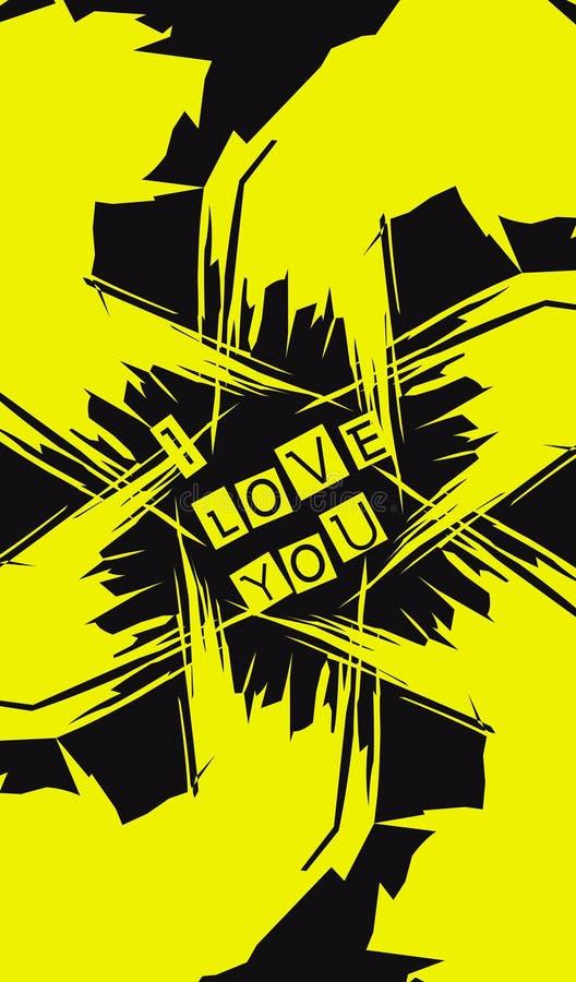 Aufschrift gelbes schwarzes bakground lizenzfreie stockfotografie