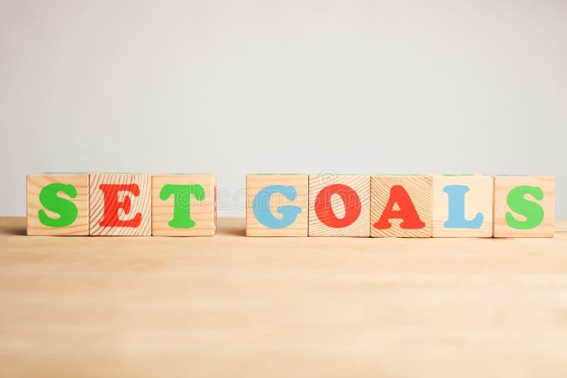 Aufschrift ` gesetztes Ziele ` stockfotos