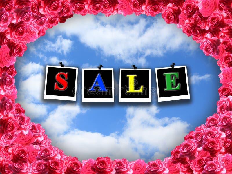 Aufschriftverkauf auf dem Hintergrund des blauen Himmels lizenzfreie stockfotografie