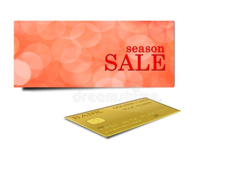 Aufschriftverkauf und -Kreditkarte stock abbildung