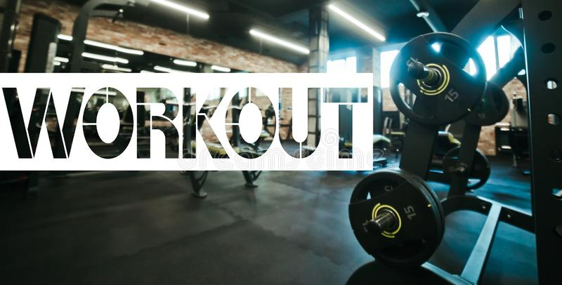 Aufschriftwort u. x22; workout& x22; lizenzfreie stockfotos