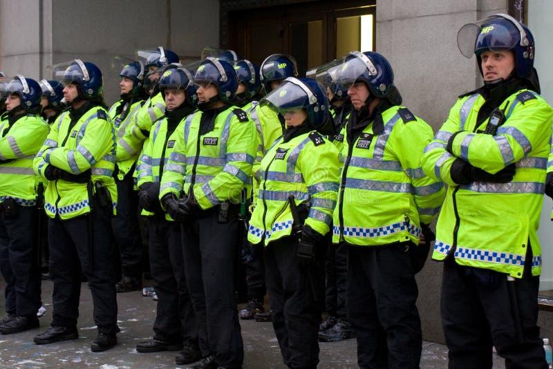 Aufstand-Polizei stockfotografie