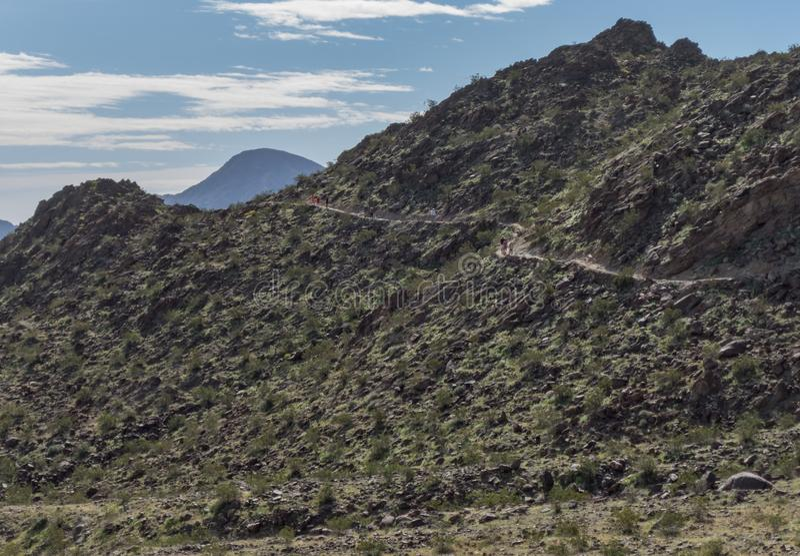 Aufsteigen Mike Schuler Trail, Palm Desert stockbild