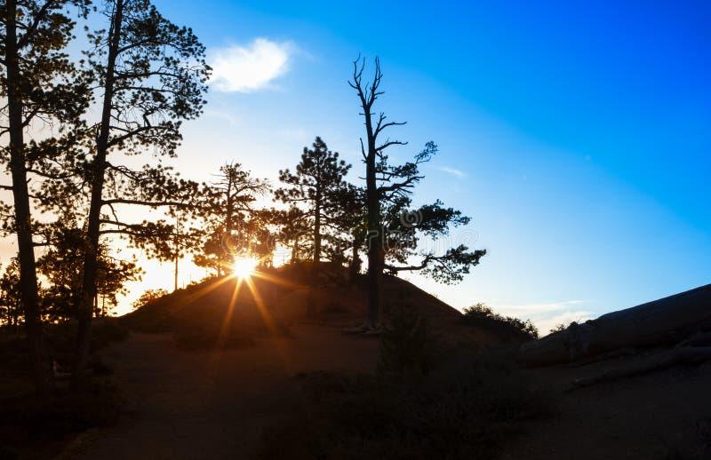 Aufsteigender Sun am sehr frühen Morgen am Sonnenaufgang-Punkt von Bryc lizenzfreies stockfoto
