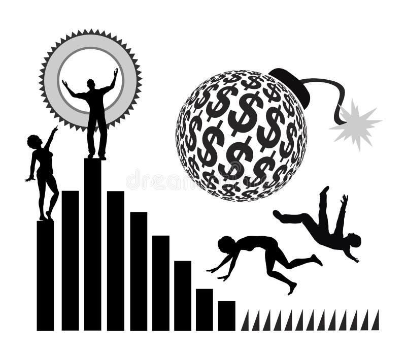 Aufstieg und Abbruch vektor abbildung