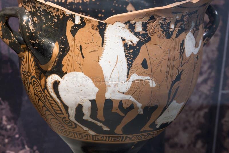 Aufstieg von Herakles zum Helden Griechischer Lehm stockfotos