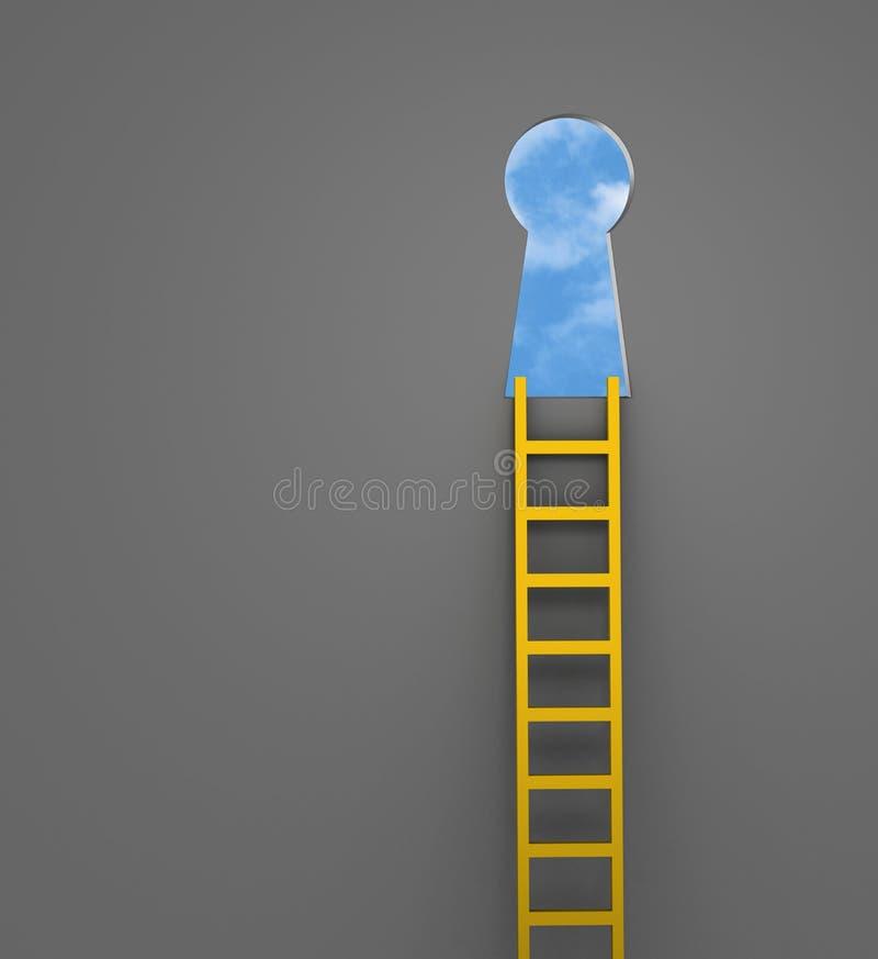 Aufstiegs-Leiter der Gelegenheit vektor abbildung
