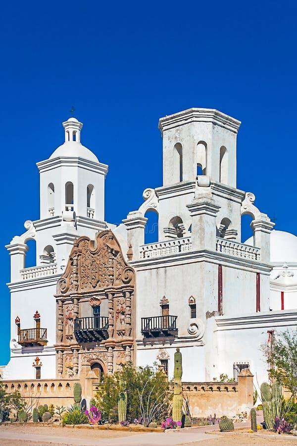 Auftrag San Xavier del Bac Tucson Arizona lizenzfreie stockbilder