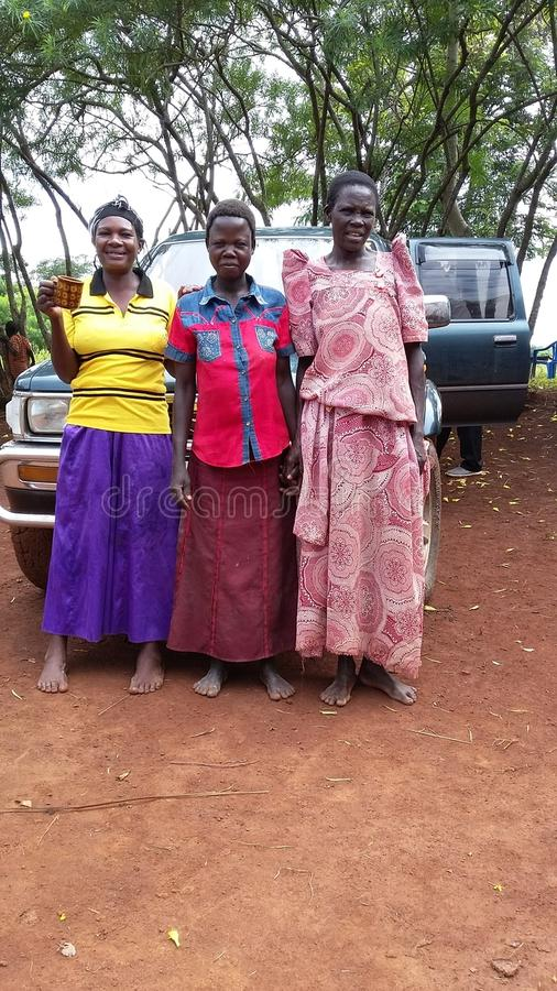 Auftragarbeit in Ost-Uganda stockfotos