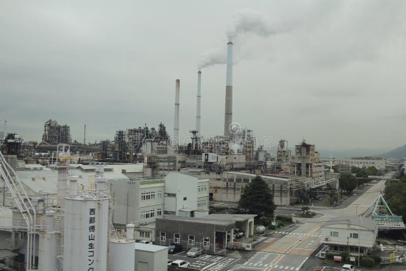 Auftritt Japans des Speiseöl-Fabrikgebäudes stockfoto