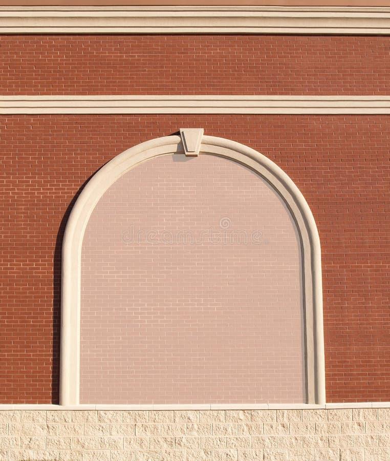 Aufwändige Backsteinmauer mit Exemplarplatz. lizenzfreies stockfoto